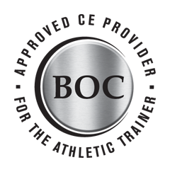 Approved CE Provider for the athletic trainer